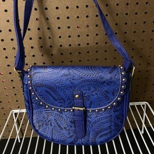 Handbags - Blue crossbody.